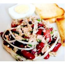 Салат  фасолевый с тунцом